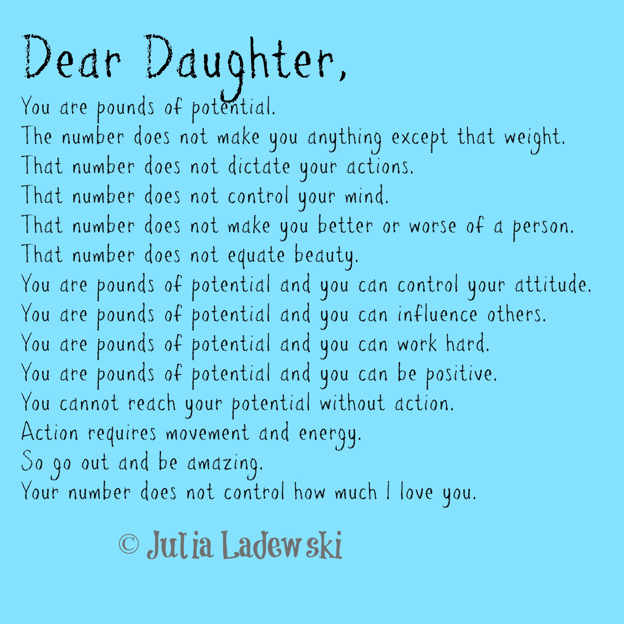 pounds of potential a father39s letter to his daughter With dad to daughter letter