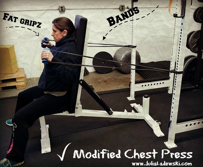 chest press with bands
