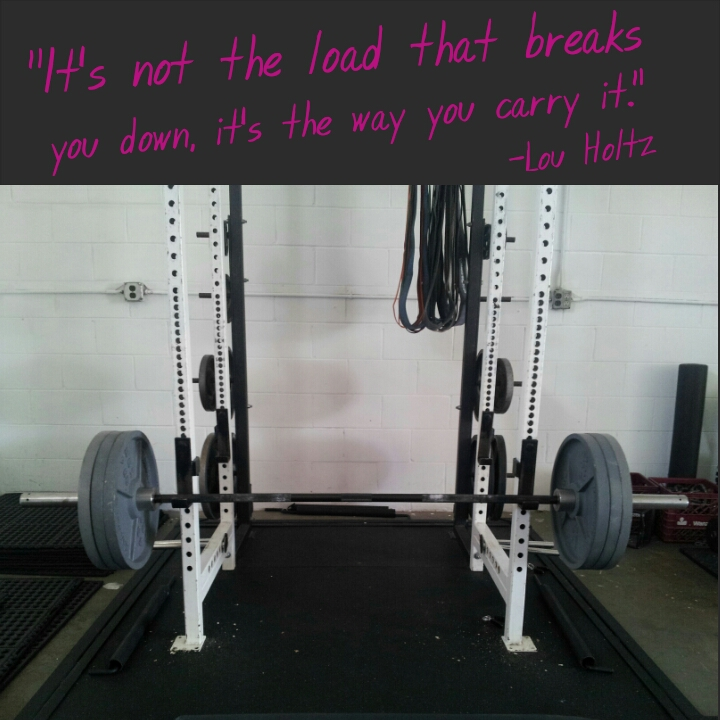Lou Holtz carry the weight quote