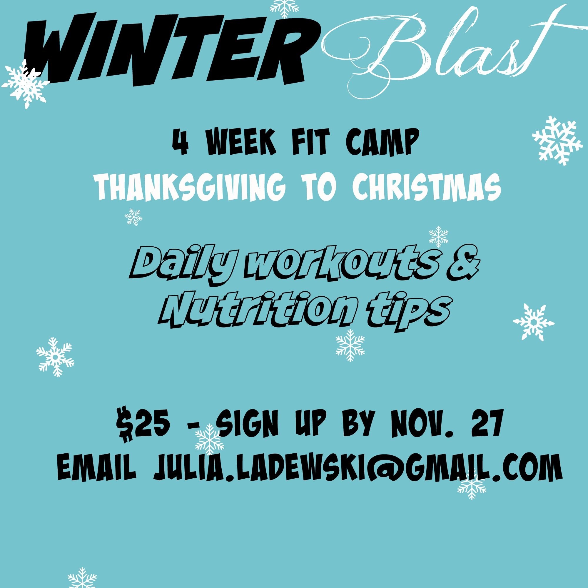 winter blast fit camp